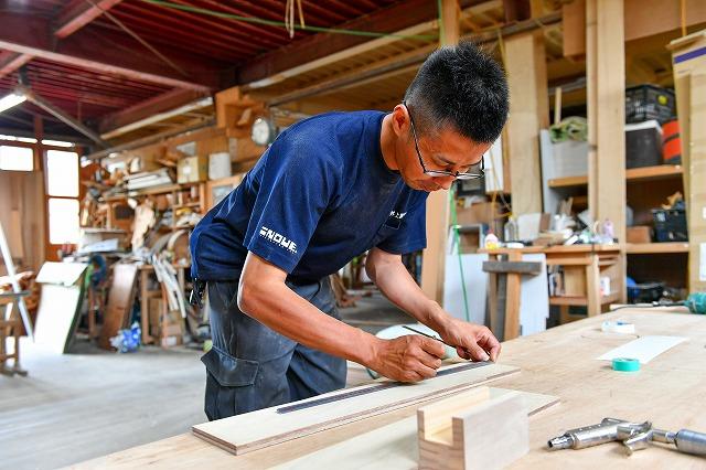 製作風景  製作風景 オーダー家具 オーダー建具 有限会社井上製作所